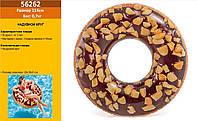 """Круг надувний INTEX 56262 (12шт) """"Пончик шоколадний"""" вініл в кор. 114 см"""