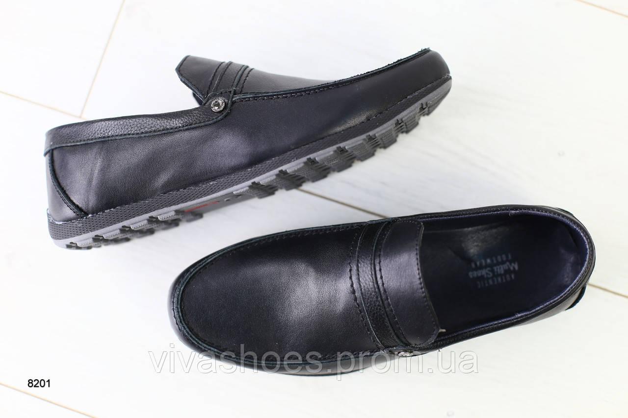 10ed1ef8 Мужские мокасины черные кожаные - Интернет-магазин