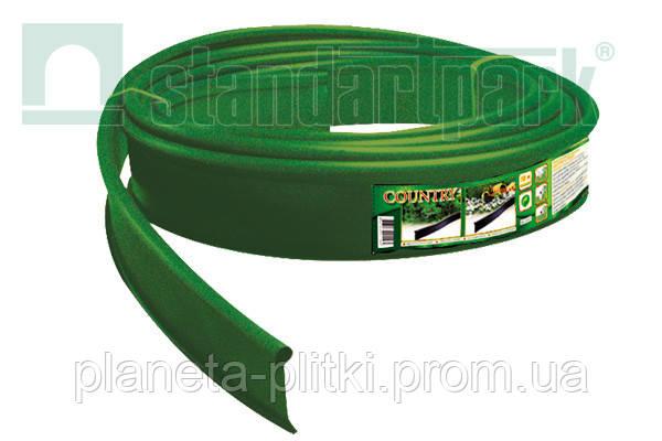 Бордюр Кантри Б-1000.2.11 пластиковый зеленый - BudUA в Киеве