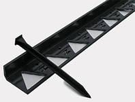 Бордюр Б-300.8,5.4,5 пластиковый черный L3000