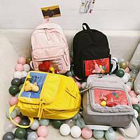 Нейлоновый рюкзак с прозрачным карманом, фото 1
