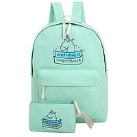 Школьный рюкзак 2 в 1 с единорогом, фото 1