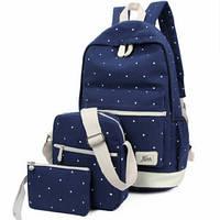Рюкзак школьный в горошек 3 в 1, фото 1
