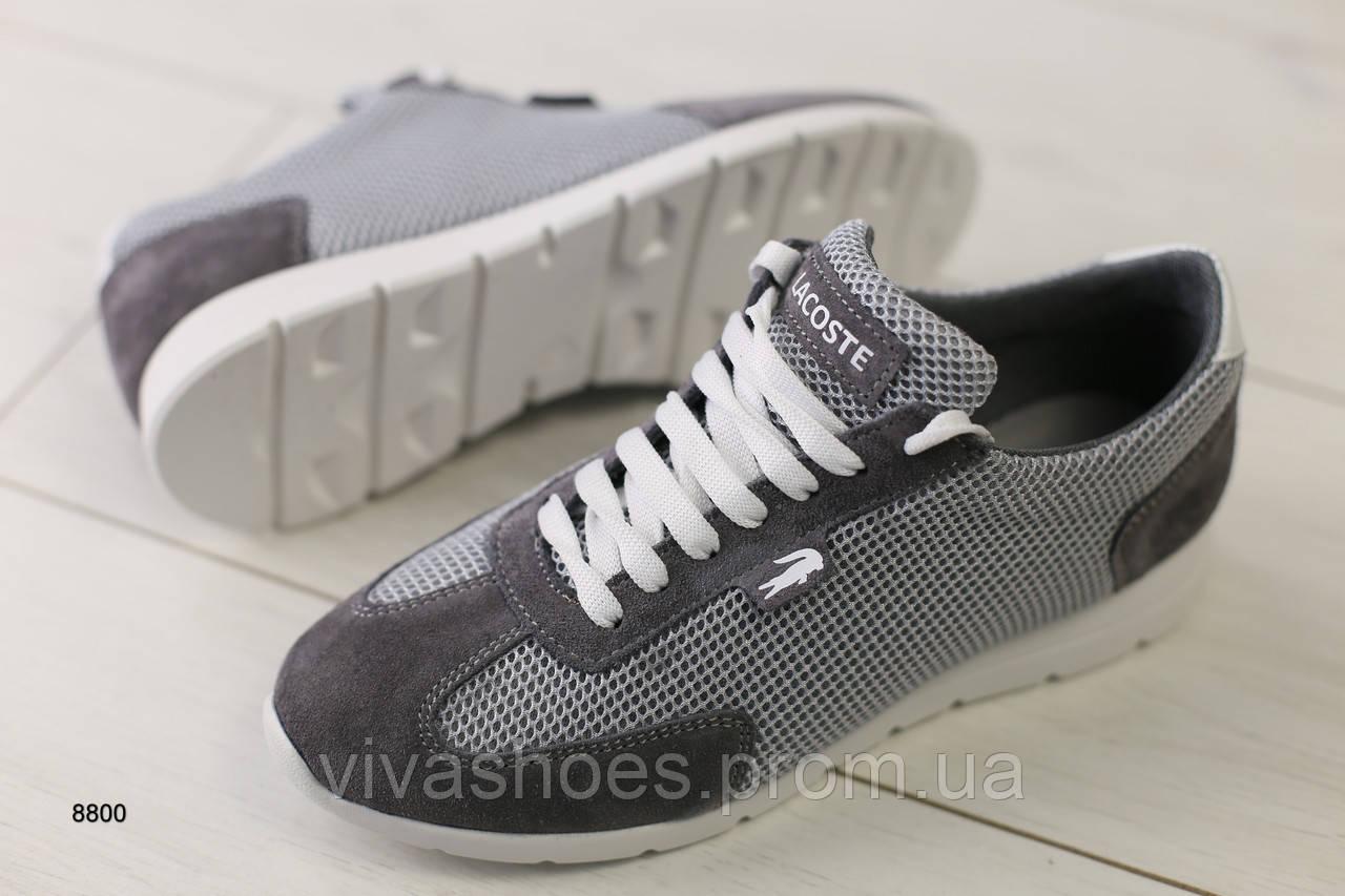 1f6c1289d Женские кроссовки в сеточку стиле Lacoste - Интернет-магазин