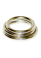 Комплект металлических колец - Metal Cock Ring 3-pack