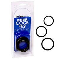 Rubber Cock Ring 3-pack - комплект колец на пенис