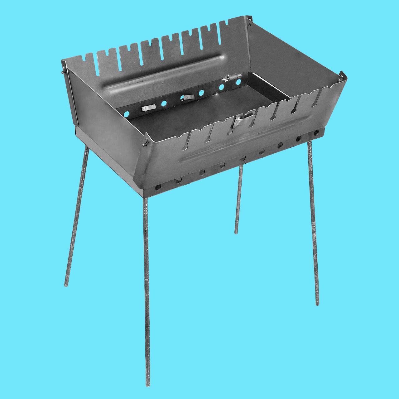 Мангал - чемодан 2 мм на 8 шампуров