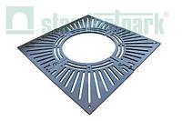 Приствольная решетка РП-100.100-СЧ чугунная квадратная