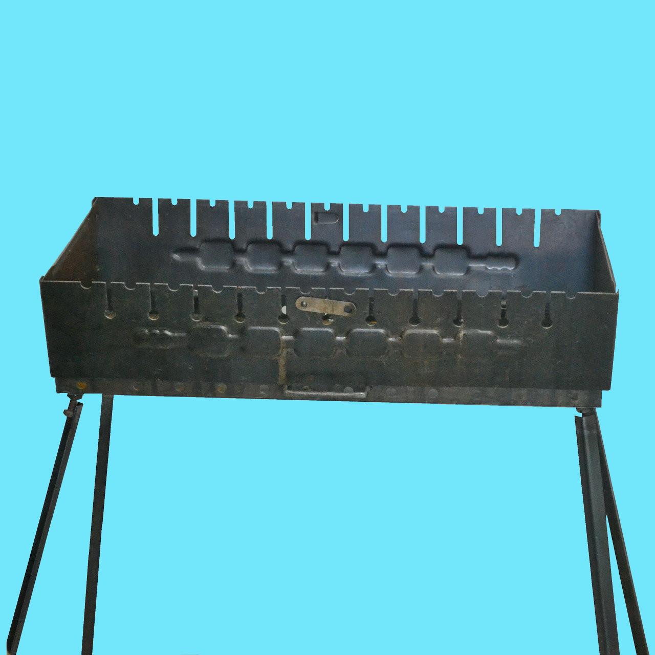 Мангал - чемодан 2 мм на 12 шампуров