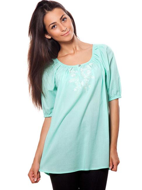 Изысканная летняя блуза с вышивкой (S-2XL в расцветках)