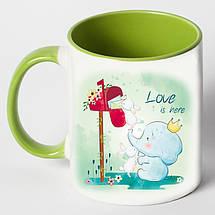 """Чашка """"Любовь здесь"""", фото 2"""