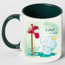 """Чашка """"Любовь здесь"""""""