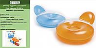 Круг надувний INTEX круг-шезлонг для плавання 58889 (6шт) 137*122 см, 2 кольори, від 14 років, в кор.