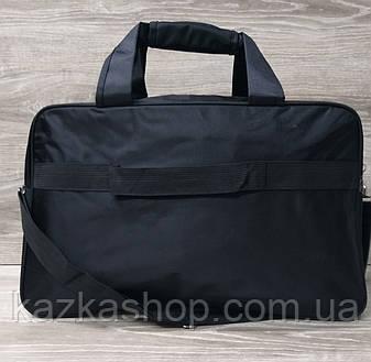 Дорожная сумка хорошего качества, накат в стиле Fila (копия), среднего размера 50х30х18 см, плотный материал, фото 2