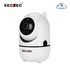 Поворотна Wi-Fi ip-камера Sectec 291G White 1080p 2мп + хмара кут огляду 110 градусів,датчик руху