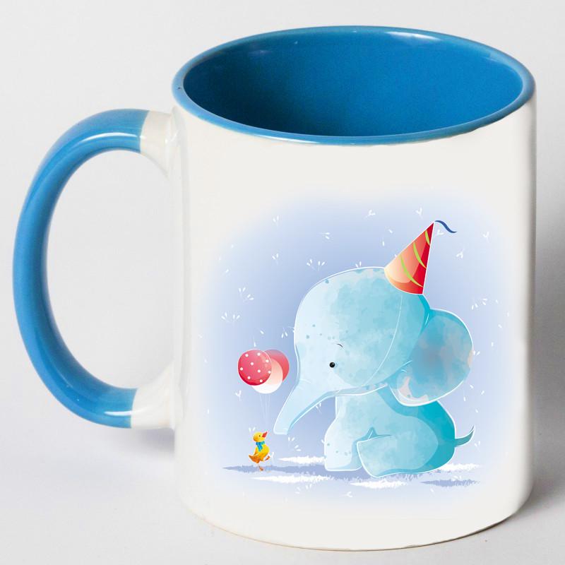 """Чашка """"Слон с уткой"""""""