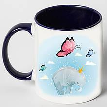 """Чашка """"Слон з метеликами"""""""