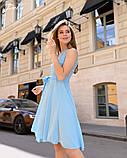 Летнее платье легкое до колен гипюр+софт с поясом размеры:42,44,46,48, фото 6