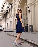 Летнее платье легкое до колен гипюр+софт с поясом размеры:42,44,46,48, фото 5