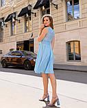 Летнее платье легкое до колен гипюр+софт с поясом размеры:42,44,46,48, фото 3