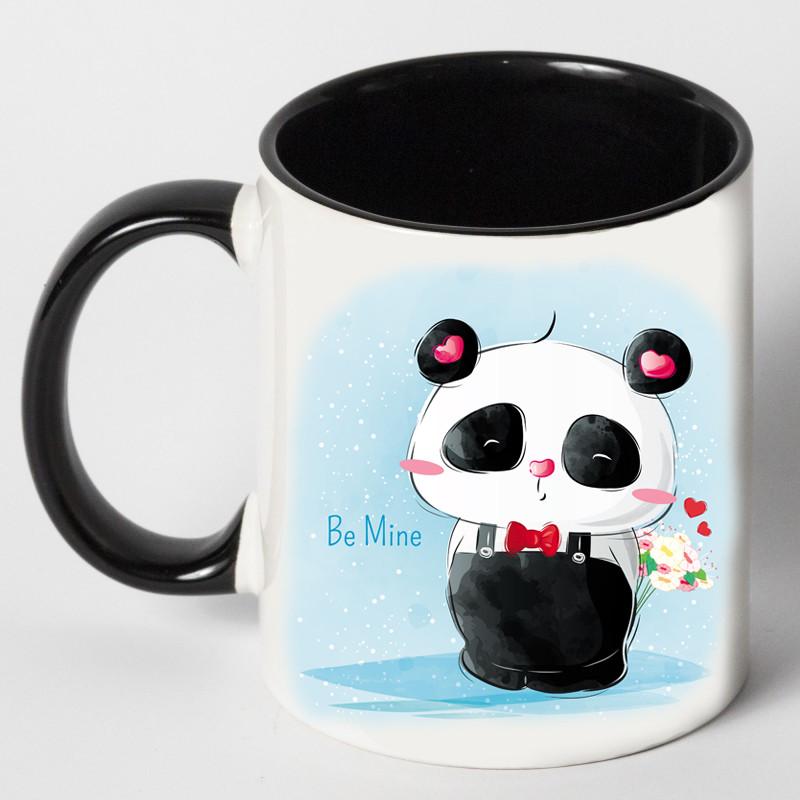"""Чашка """"Панда з букетом"""""""