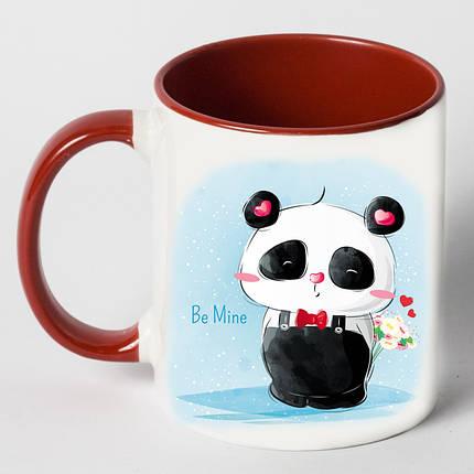 "Чашка ""Панда з букетом"", фото 2"