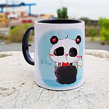 "Чашка ""Панда з букетом"", фото 3"