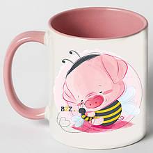 """Чашка """"Свинка в костюмі джмеля"""""""