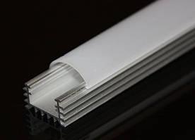 Алюмінієвий LED профіль LP-5 накладної для світлодіодної стрічки, лінійки