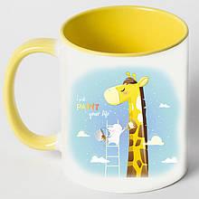 """Чашка """"Жираф з зайцем"""""""
