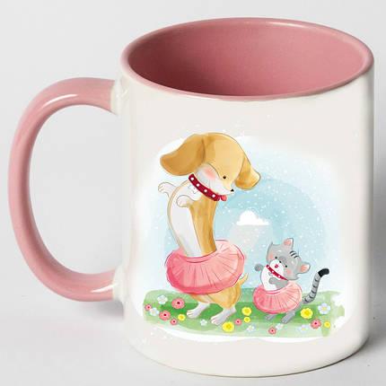 "Чашка ""Собака танцует с кошкой"", фото 2"