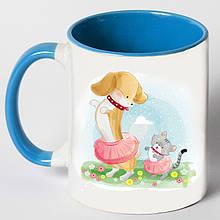 """Чашка """"Собака танцює з кішкою"""""""