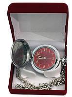 Часы Молния красный циферблат, фото 1