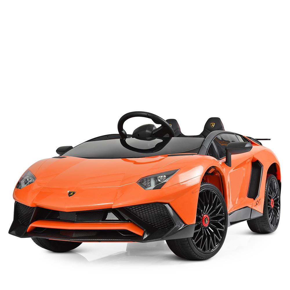 Детский электромобиль Lamborghini M 3903EBLR-7 оранжевый Гарантия качества Быстрая доставка