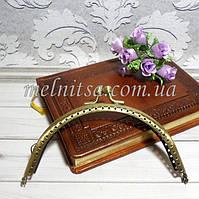 Фермуар для сумочек и кошельков, 12,5 см, дуга, цвет антик