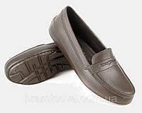 4ba7dea270c119 Мокасины женские из пенки. Туфли рабочие из ЭВА. Защитная женская  непромокаемая обувь. коричневый