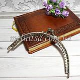 Фермуар для сумочек и кошельков, 12,5 см, дуга, цвет серебро, фото 3