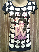 Женская молодежная удлиненная футболка