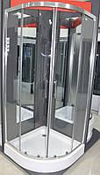 Душевая кабина 100х100х211 SANTEH 1001CL с поддоном 15 cм, прозрачное стекло