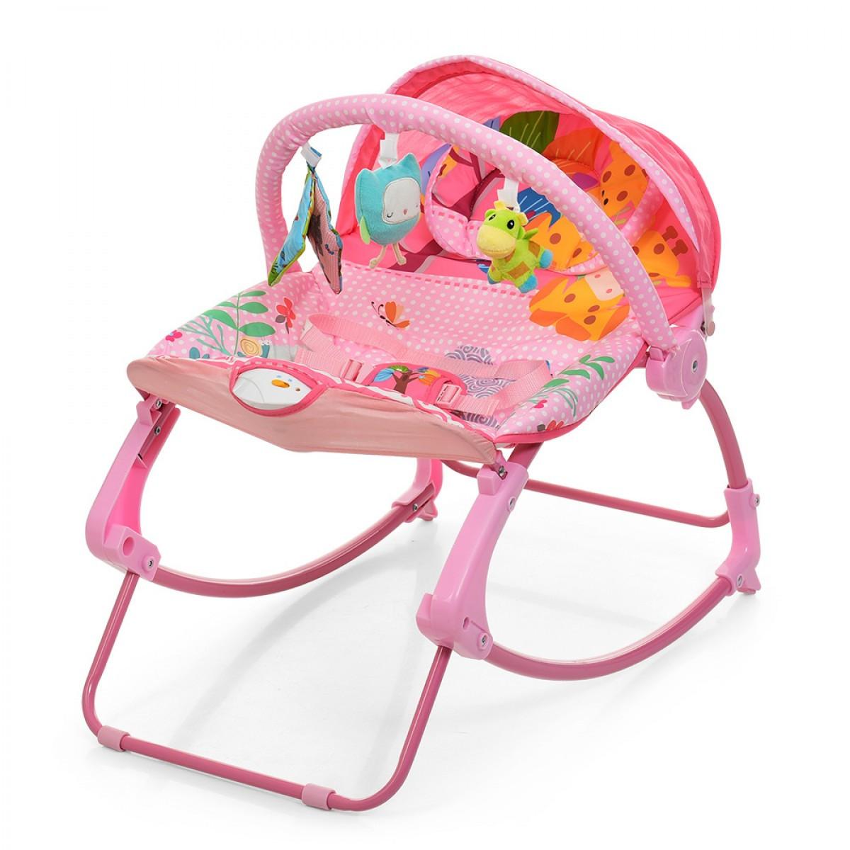 Шезлонг-качалка детский Bambi PK-306-8 Розовый