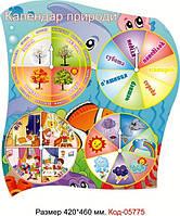 Стенд пластиковий календар природи в днз Код-05775