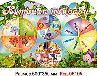 """Стенд пластиковий """"Куточок природи"""" Код-06105"""