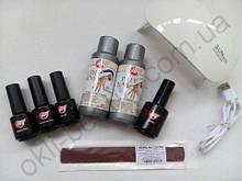 Стартовый набор для покрытия гель-лаком My Nail c лампой Sun Mini