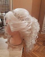 Голова учебная, натуральные волосы для плетения и причесок, блонд, фото 1