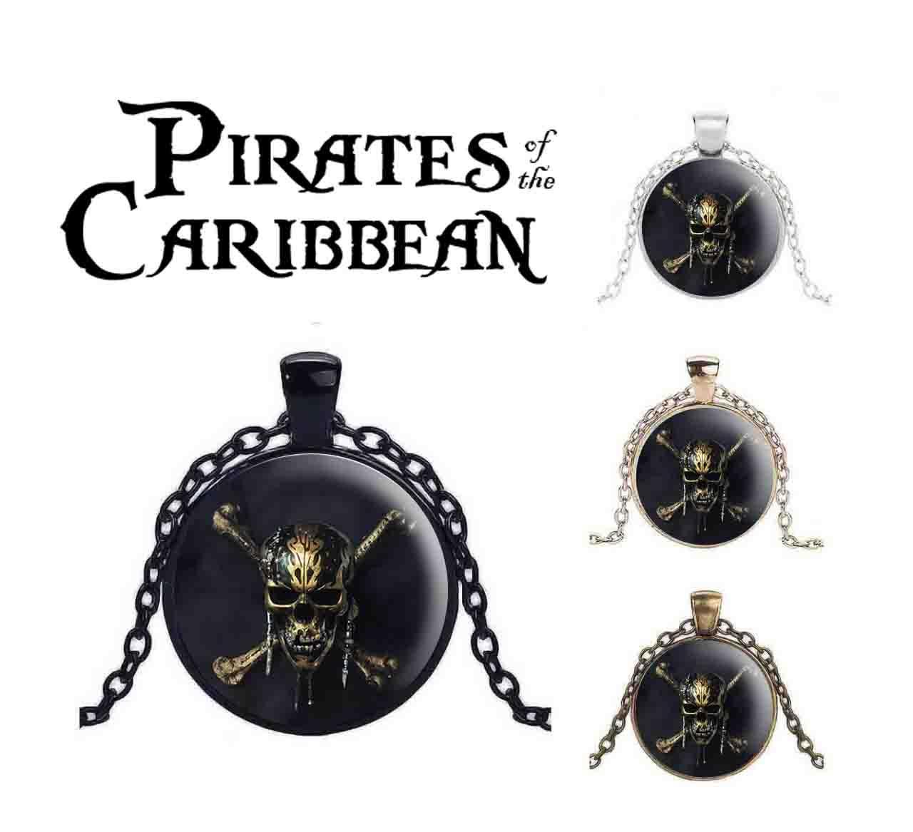 Кулон Пираты Карибского моря/Pirates of the Caribbean череп с костями
