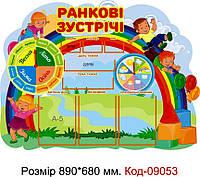 Шкільний стенд для початкового класу Код-09053