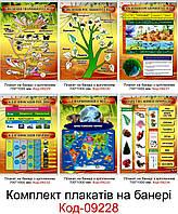 Комплект плакатів на банері для кабінету біології Код-09228