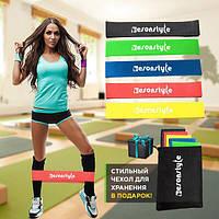 🔥✅ Набор фитнес резинок для фитнеса Esonstyle из 5 лент в удобном мешочке 5 штук