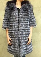 Пальто из меха чернобурки. , фото 1