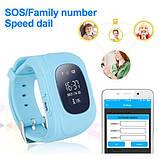 Детские умные смарт-часы с GPS Smart Watch UWatch Q50/G36 Light Blue, фото 2